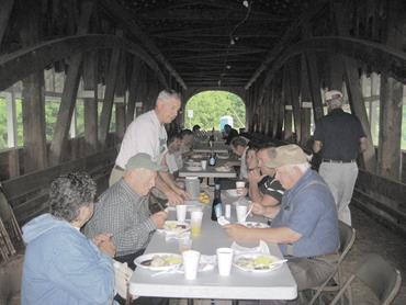 breakfast on the covered bridge